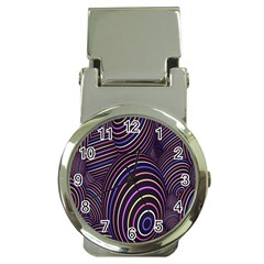 Abstract Colorful Spheres Money Clip Watches