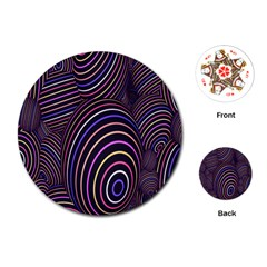 Abstract Colorful Spheres Playing Cards (Round)