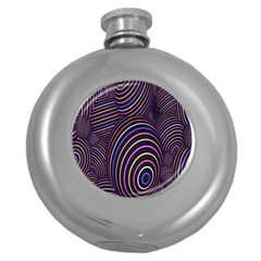 Abstract Colorful Spheres Round Hip Flask (5 Oz)