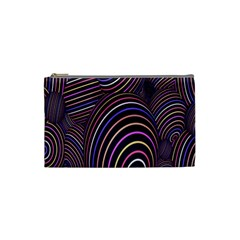 Abstract Colorful Spheres Cosmetic Bag (small)