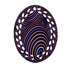 Abstract Colorful Spheres Ornament (Oval Filigree)