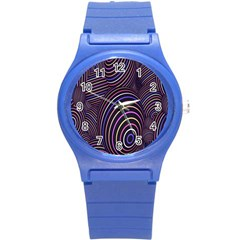 Abstract Colorful Spheres Round Plastic Sport Watch (S)