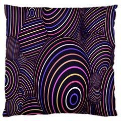 Abstract Colorful Spheres Large Cushion Case (Two Sides)