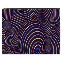 Abstract Colorful Spheres Cosmetic Bag (XXXL)