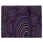 Abstract Colorful Spheres Cosmetic Bag (XXXL)  Front