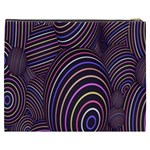 Abstract Colorful Spheres Cosmetic Bag (XXXL)  Back