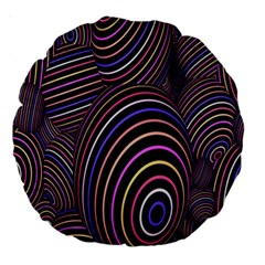 Abstract Colorful Spheres Large 18  Premium Round Cushions