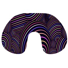 Abstract Colorful Spheres Travel Neck Pillows