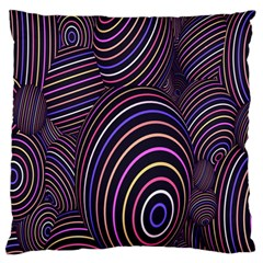 Abstract Colorful Spheres Large Flano Cushion Case (Two Sides)