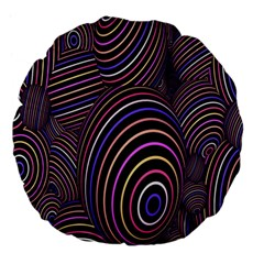 Abstract Colorful Spheres Large 18  Premium Flano Round Cushions