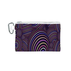 Abstract Colorful Spheres Canvas Cosmetic Bag (S)