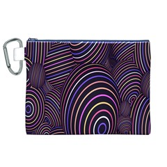 Abstract Colorful Spheres Canvas Cosmetic Bag (XL)