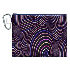 Abstract Colorful Spheres Canvas Cosmetic Bag (XXL)