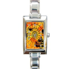 Halloween Weird  Surreal Atmosphere Rectangle Italian Charm Watch