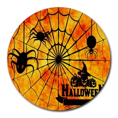 Halloween Weird  Surreal Atmosphere Round Mousepads