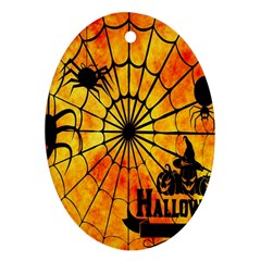 Halloween Weird  Surreal Atmosphere Ornament (Oval)