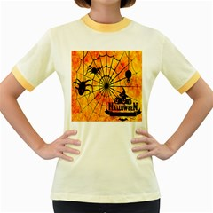 Halloween Weird  Surreal Atmosphere Women s Fitted Ringer T Shirts