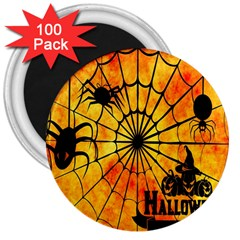 Halloween Weird  Surreal Atmosphere 3  Magnets (100 Pack)