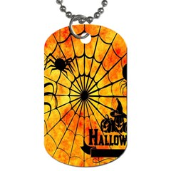 Halloween Weird  Surreal Atmosphere Dog Tag (Two Sides)