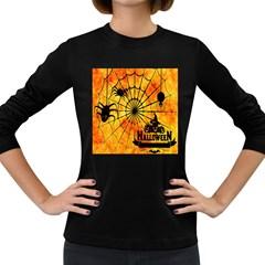 Halloween Weird  Surreal Atmosphere Women s Long Sleeve Dark T Shirts