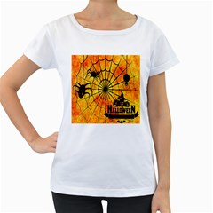 Halloween Weird  Surreal Atmosphere Women s Loose-Fit T-Shirt (White)