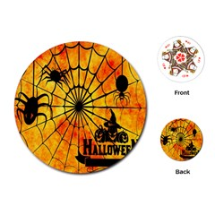 Halloween Weird  Surreal Atmosphere Playing Cards (Round)