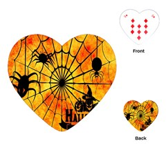 Halloween Weird  Surreal Atmosphere Playing Cards (heart)