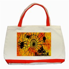 Halloween Weird  Surreal Atmosphere Classic Tote Bag (red)