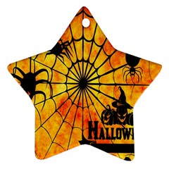 Halloween Weird  Surreal Atmosphere Star Ornament (two Sides)