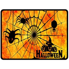 Halloween Weird  Surreal Atmosphere Fleece Blanket (Large)