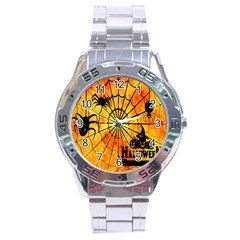 Halloween Weird  Surreal Atmosphere Stainless Steel Analogue Watch