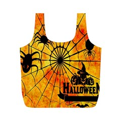 Halloween Weird  Surreal Atmosphere Full Print Recycle Bags (M)