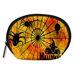 Halloween Weird  Surreal Atmosphere Accessory Pouches (Medium)