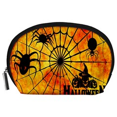 Halloween Weird  Surreal Atmosphere Accessory Pouches (Large)