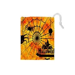 Halloween Weird  Surreal Atmosphere Drawstring Pouches (Small)