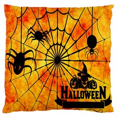 Halloween Weird  Surreal Atmosphere Large Flano Cushion Case (One Side)