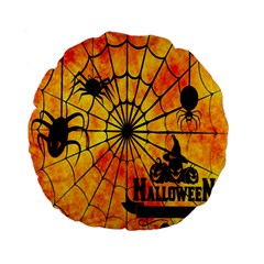 Halloween Weird  Surreal Atmosphere Standard 15  Premium Flano Round Cushions