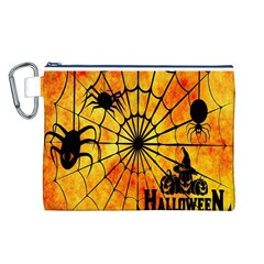 Halloween Weird  Surreal Atmosphere Canvas Cosmetic Bag (L)