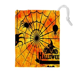 Halloween Weird  Surreal Atmosphere Drawstring Pouches (extra Large)