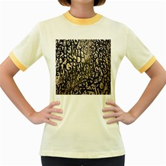 Wallpaper Texture Pattern Design Ornate Abstract Women s Fitted Ringer T-Shirts