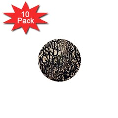 Wallpaper Texture Pattern Design Ornate Abstract 1  Mini Buttons (10 pack)