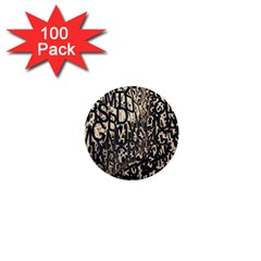 Wallpaper Texture Pattern Design Ornate Abstract 1  Mini Buttons (100 pack)