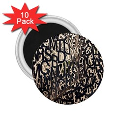 Wallpaper Texture Pattern Design Ornate Abstract 2.25  Magnets (10 pack)