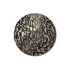Wallpaper Texture Pattern Design Ornate Abstract Magnet 3  (Round)