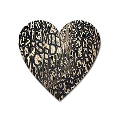 Wallpaper Texture Pattern Design Ornate Abstract Heart Magnet