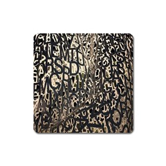 Wallpaper Texture Pattern Design Ornate Abstract Square Magnet