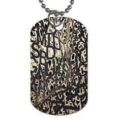 Wallpaper Texture Pattern Design Ornate Abstract Dog Tag (two Sides)