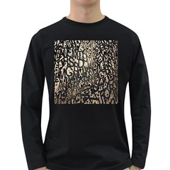 Wallpaper Texture Pattern Design Ornate Abstract Long Sleeve Dark T Shirts