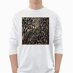 Wallpaper Texture Pattern Design Ornate Abstract White Long Sleeve T Shirts