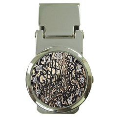 Wallpaper Texture Pattern Design Ornate Abstract Money Clip Watches